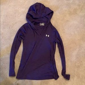 Purple under armour hooded top
